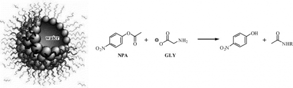 Aminolysis Reactions by Glycine in AOT-Based Water-in-Oil Microemulsions